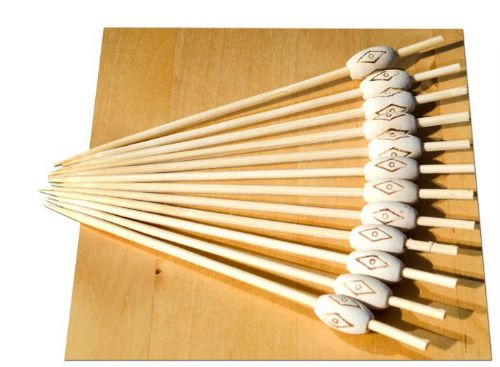 Ethnic wood bead skewers 12cm x500 - GOTO